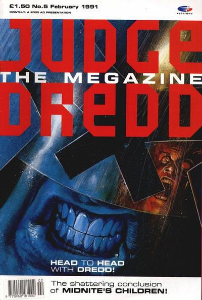 Cover for Judge Dredd the Megazine (Fleetway Publications, 1990 series) #5