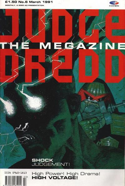 Cover for Judge Dredd the Megazine (Fleetway Publications, 1990 series) #6