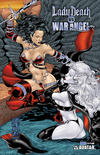Cover Thumbnail for Brian Pulido's Lady Death vs War Angel (2006 series) #1 [Royal Blue]
