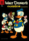 Cover for Walt Disney's Comics and Stories (Dell, 1940 series) #v18#10 (214) [15¢]