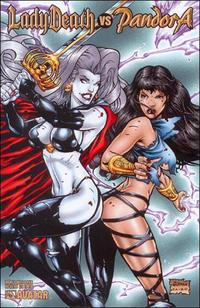 Cover for Lady Death vs Pandora (Avatar Press, 2007 series) #1 [Platinum Foil]