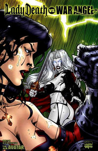 Cover Thumbnail for Brian Pulido's Lady Death vs War Angel (Avatar Press, 2006 series) #1 [Bring it On]