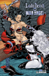 Cover Thumbnail for Brian Pulido's Lady Death vs War Angel (Avatar Press, 2006 series) #1 [Royal Blue]