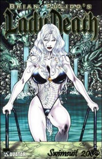 Cover Thumbnail for Brian Pulido's Lady Death: Swimsuit (Avatar Press, 2005 series) #2005 [Gold Foil]