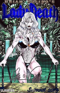 Cover for Brian Pulido's Lady Death: Swimsuit (Avatar Press, 2005 series) #2005 [Royal Blue]