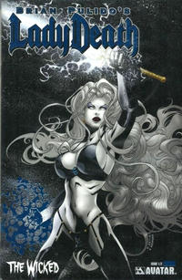 Cover Thumbnail for Lady Death: The Wicked (Avatar Press, 2005 series) #1/2 [Royal Blue]