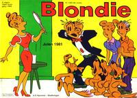 Cover Thumbnail for Blondie (Hjemmet / Egmont, 1941 series) #1981