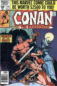 Cover Thumbnail for Conan the Barbarian (Marvel, 1970 series) #114 [Newsstand Edition]