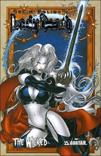 Cover Thumbnail for Lady Death: The Wicked (Avatar Press, 2005 series) #1 [Prism Foil]