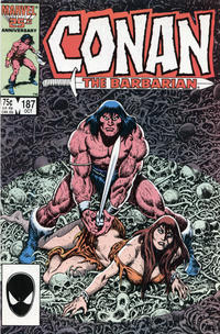 Cover Thumbnail for Conan the Barbarian (Marvel, 1970 series) #187 [Direct Edition]