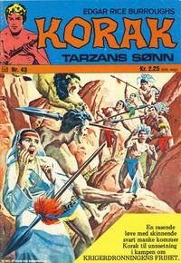 Cover Thumbnail for Korak (Illustrerte Klassikere / Williams Forlag, 1966 series) #43
