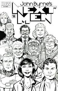 Cover Thumbnail for John Byrne's Next Men (IDW, 2010 series) #8 [RI Cover]