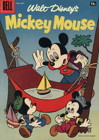 Cover Thumbnail for Mickey Mouse (Dell, 1952 series) #55 [15¢]