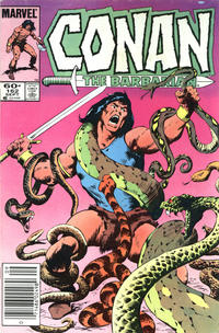Cover Thumbnail for Conan the Barbarian (Marvel, 1970 series) #162 [Newsstand Edition]