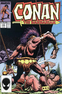 Cover for Conan the Barbarian (Marvel, 1970 series) #195 [Newsstand Edition]