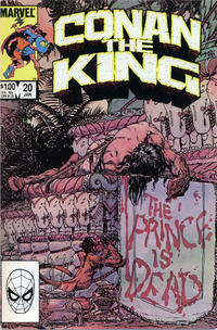 Cover Thumbnail for Conan the King (Marvel, 1984 series) #20 [Direct Edition]
