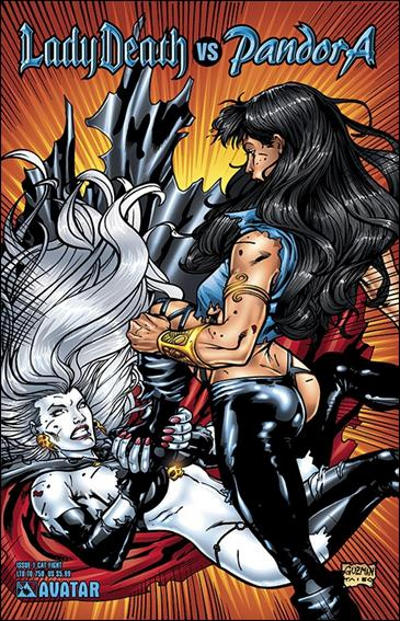 Cover for Lady Death vs Pandora (Avatar Press, 2007 series) #1 [Cat Fight]