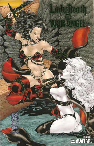 Cover for Brian Pulido's Lady Death vs War Angel (Avatar Press, 2006 series) #1 [Royal Blue]