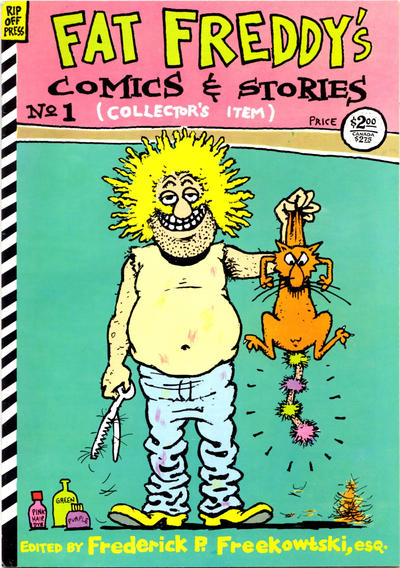 Cover for Fat Freddy's Comics & Stories (Rip Off Press, 1983 series) #1 [2nd print]