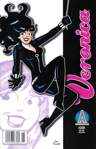 Cover for Veronica (Archie, 1989 series) #206 [Direct Edition]