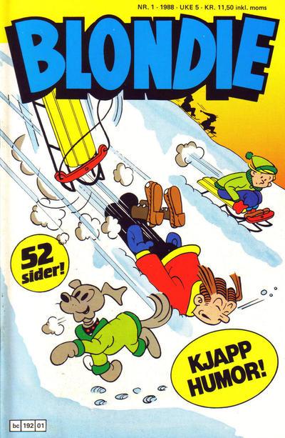 Cover for Blondie (Semic, 1980 series) #1/1988