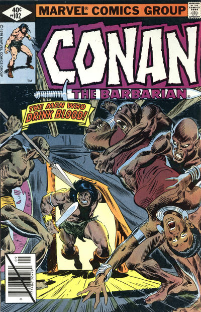 Cover for Conan the Barbarian (Marvel, 1970 series) #102 [Direct Edition]