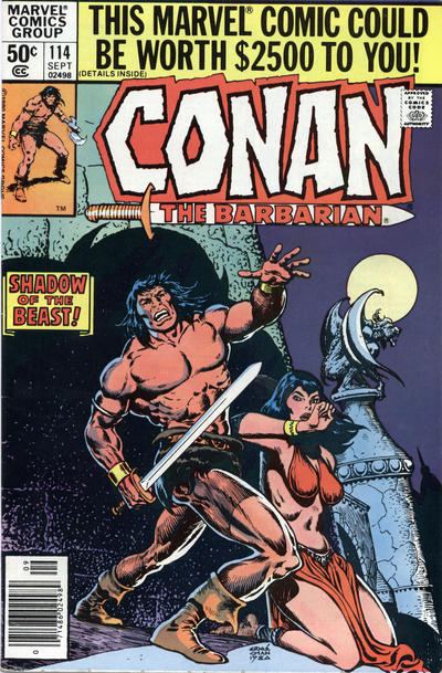 Cover for Conan the Barbarian (Marvel, 1970 series) #114 [Newsstand Edition]