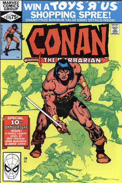 Cover for Conan the Barbarian (Marvel, 1970 series) #115 [Direct Edition]
