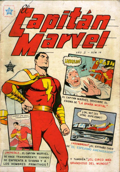Cover for El Capitan Marvel (Editorial Novaro, 1952 series) #14