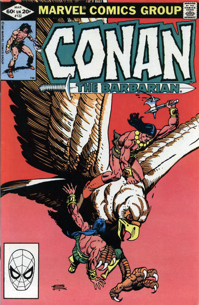 Cover for Conan the Barbarian (Marvel, 1970 series) #132 [Newsstand Edition]