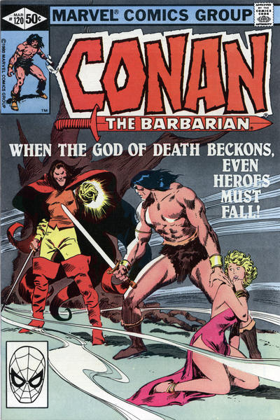 Cover for Conan the Barbarian (Marvel, 1970 series) #120 [Direct Edition]