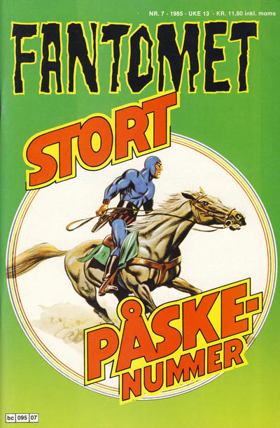 Cover for Fantomet (Semic, 1976 series) #7/1985