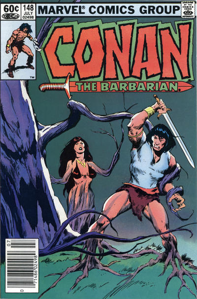 Cover for Conan the Barbarian (Marvel, 1970 series) #148 [Newsstand Edition]