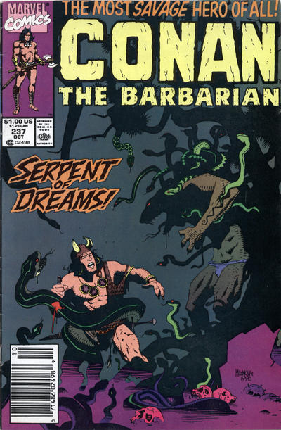 Cover for Conan the Barbarian (Marvel, 1970 series) #237 [Newsstand Edition]