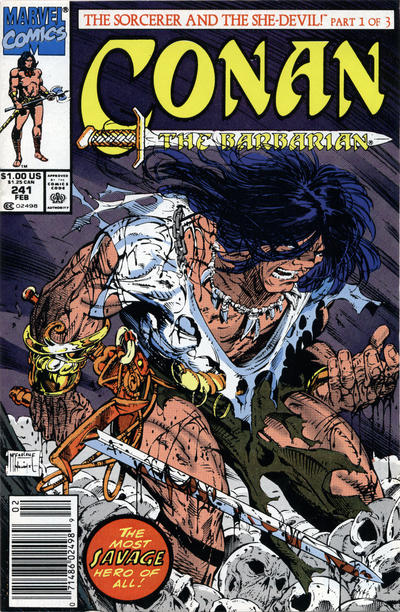 Cover for Conan the Barbarian (Marvel, 1970 series) #241 [Newsstand Edition]
