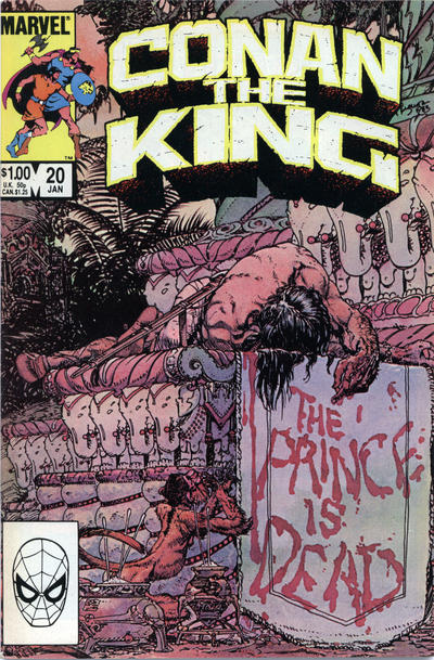 Cover for Conan the King (Marvel, 1984 series) #20 [Direct Edition]