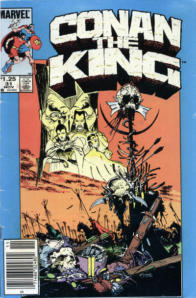 Cover for Conan the King (Marvel, 1984 series) #31 [Newsstand Edition]
