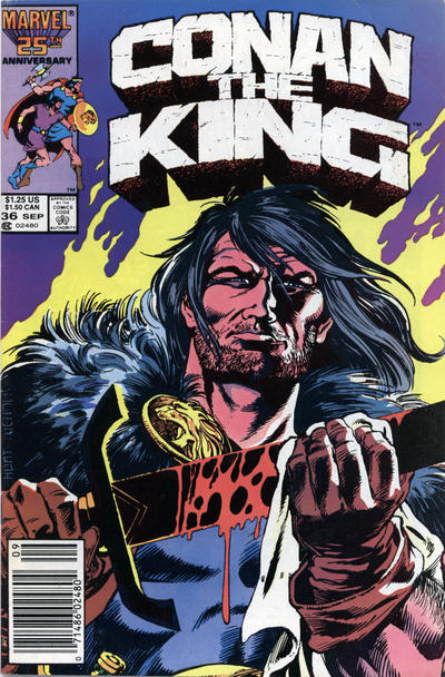 Cover for Conan the King (Marvel, 1984 series) #36 [Newsstand Edition]