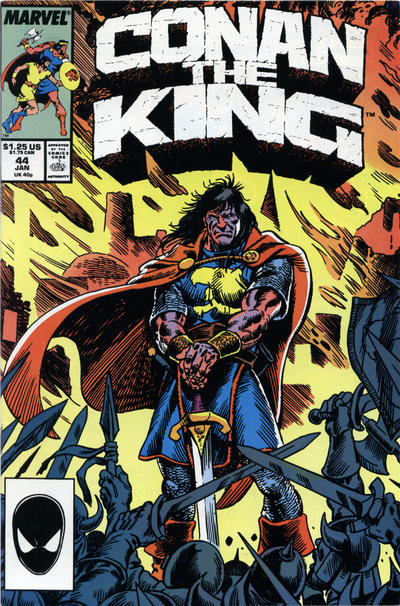 Cover for Conan the King (Marvel, 1984 series) #44 [Direct Edition]