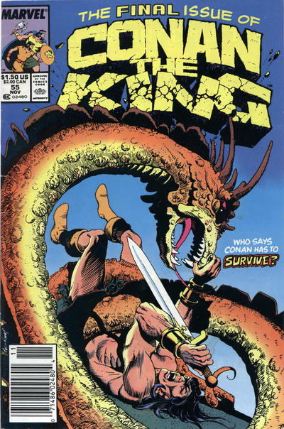 Cover for Conan the King (Marvel, 1984 series) #55 [Direct]
