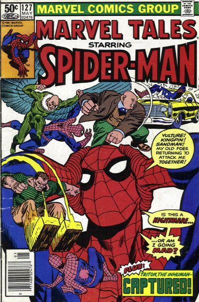 Cover for Marvel Tales (Marvel, 1966 series) #127