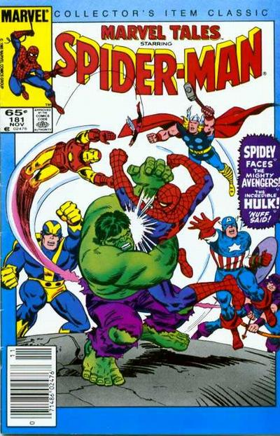 Cover for Marvel Tales (Marvel, 1966 series) #181