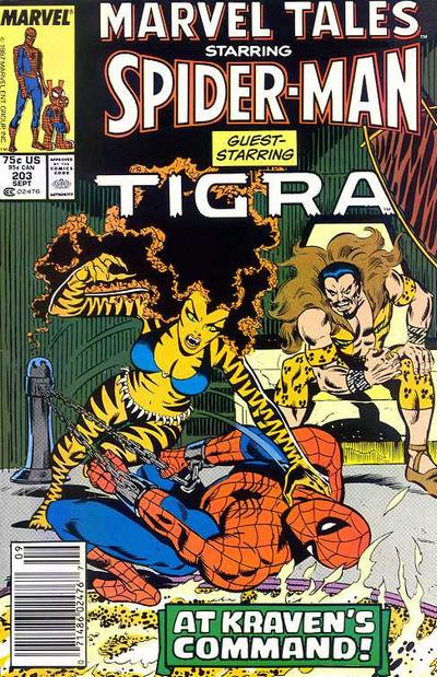 Cover for Marvel Tales (Marvel, 1966 series) #203 [Newsstand]