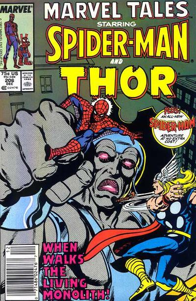 Cover for Marvel Tales (Marvel, 1966 series) #206 [Direct Edition]