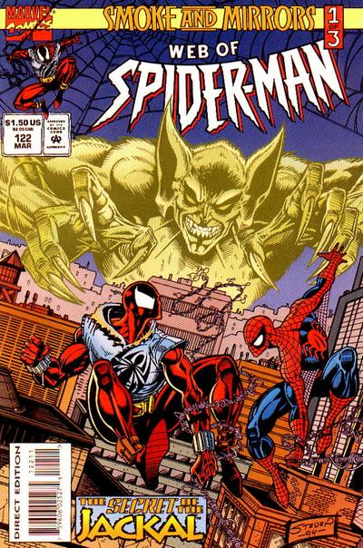 Cover for Web of Spider-Man (Marvel, 1985 series) #122