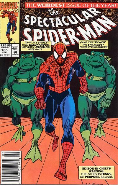 Cover for The Spectacular Spider-Man (Marvel, 1976 series) #185 [newsstand]