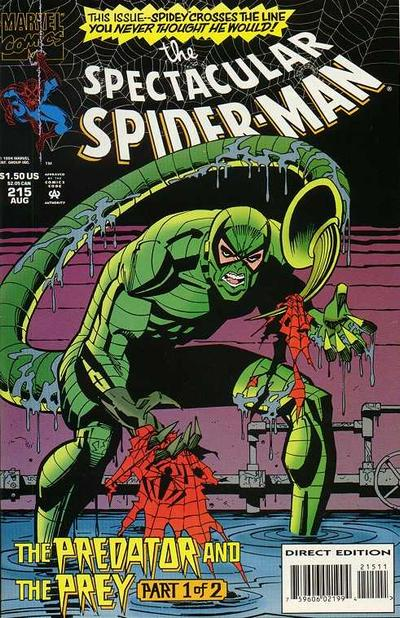 Cover for The Spectacular Spider-Man (Marvel, 1976 series) #215