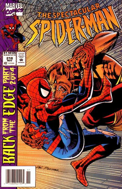 Cover for The Spectacular Spider-Man (Marvel, 1976 series) #218
