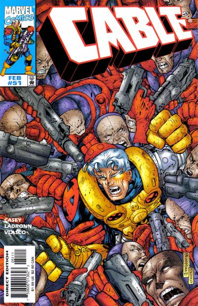 Cover for Cable (Marvel, 1993 series) #51 [Direct Edition]