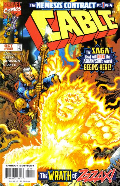 Cover for Cable (Marvel, 1993 series) #59 [Direct Edition]